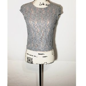 Cynthia Rowley Lace Floral Top